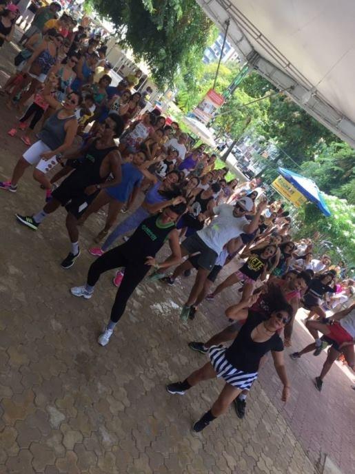 Hammer Fitness Club participa de mais uma edição do Boa Praça promovendo aulas gratuitas para o público