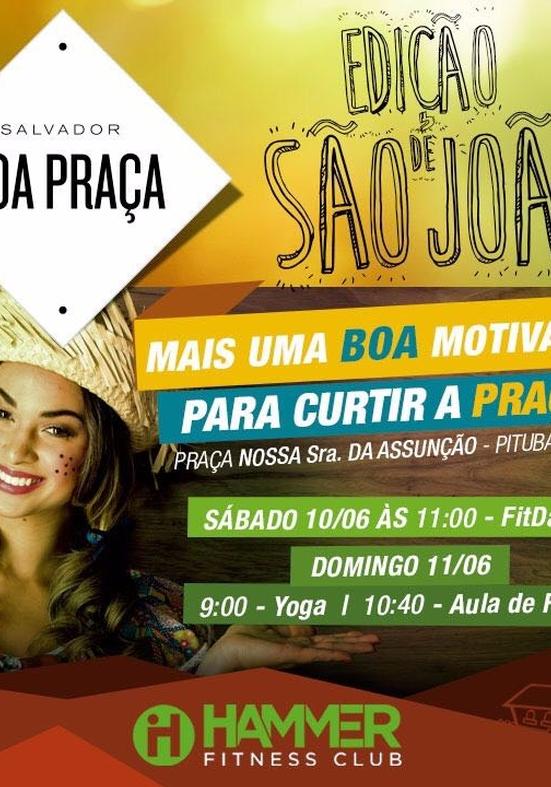 Com aulas de Forró, FitDance e Yoga Hammer Fitness Clube participa de mais uma edição do Boa Praça