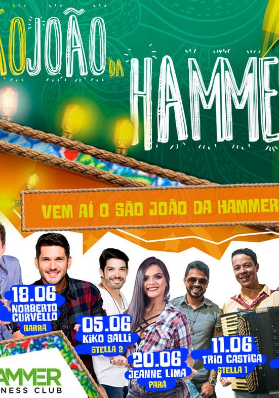 Forrozeiros farão shows exclusivos nas academias da rede Hammer Fitness Club