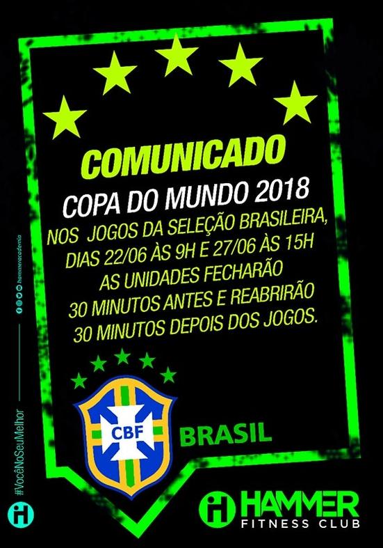 Copa: horários especiais de funcionamento durante os jogos do Brasil