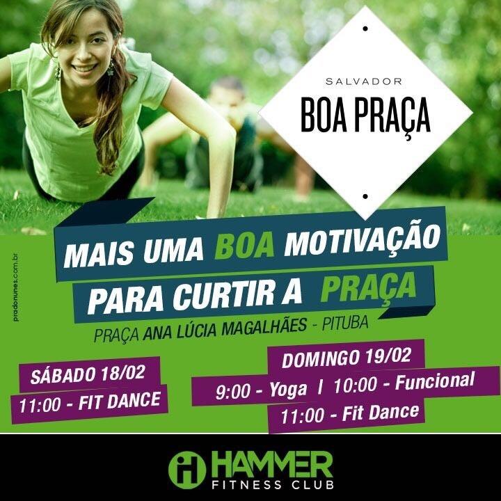 Hammer Fitness Club leva saúde e diversão para o Boa Praça