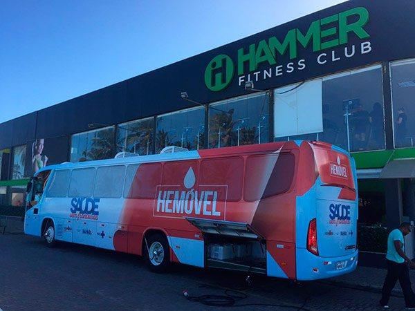 Hemoba leva hemóvel às unidades Hammer Fitness Club em Stella Maris