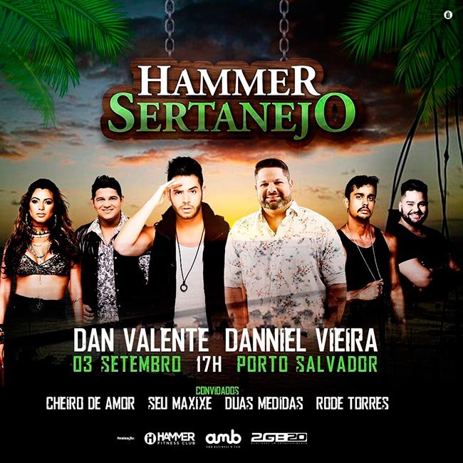 Danniel Vieira e Dan Valente agitam festa Hammer Sertanejo