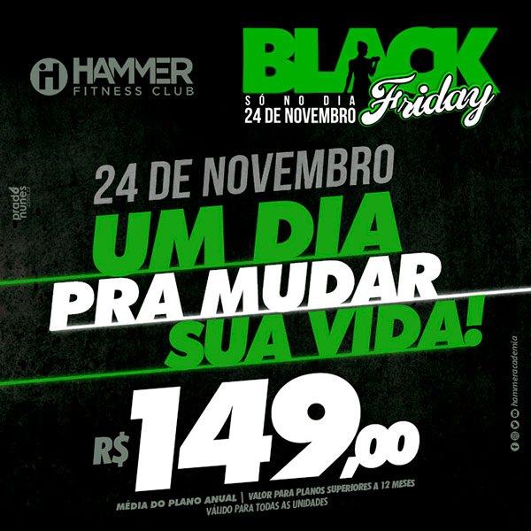 Black Friday: desconto na Hammer Fitness Club chega a 21%